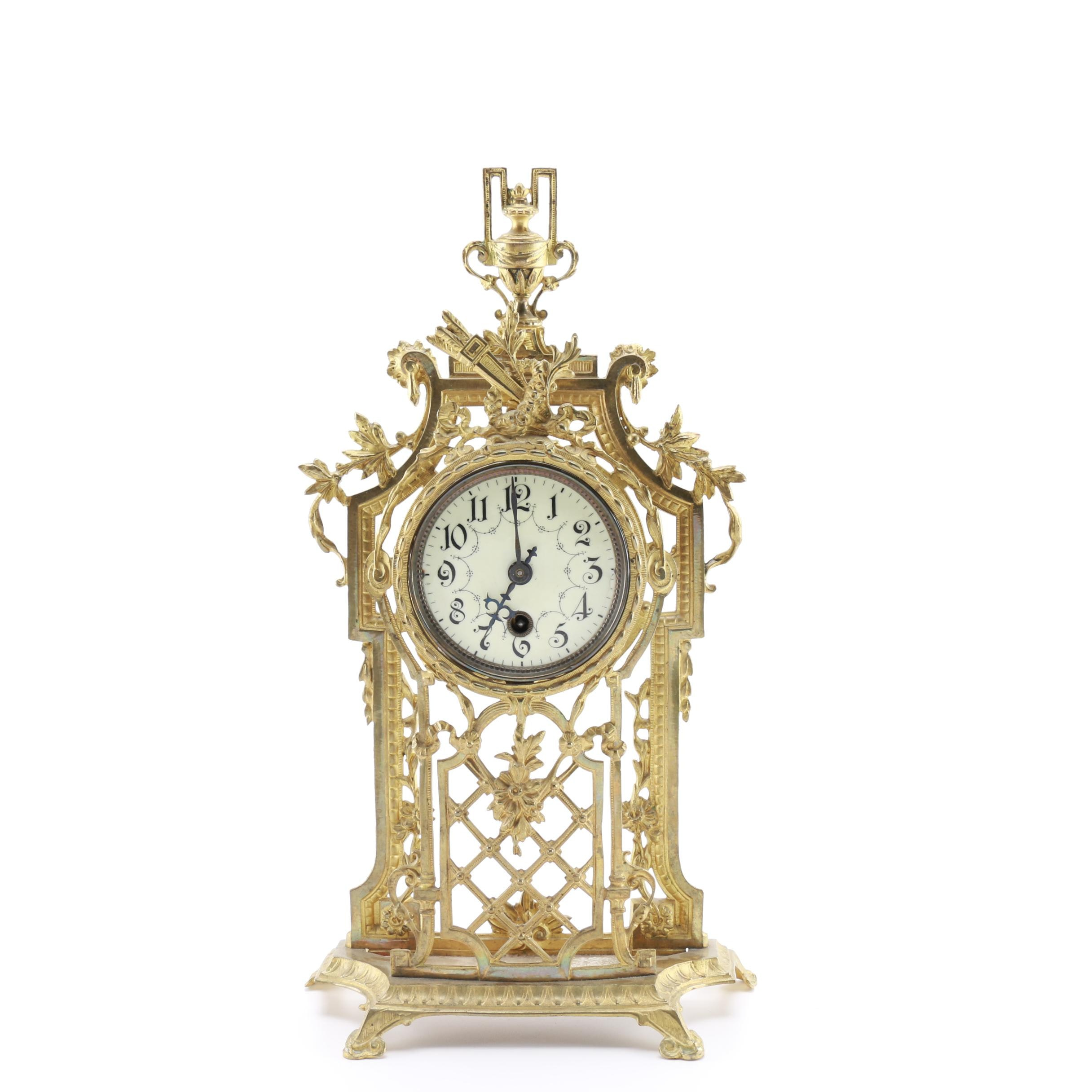 Neo-Classical Style Mantel Clock