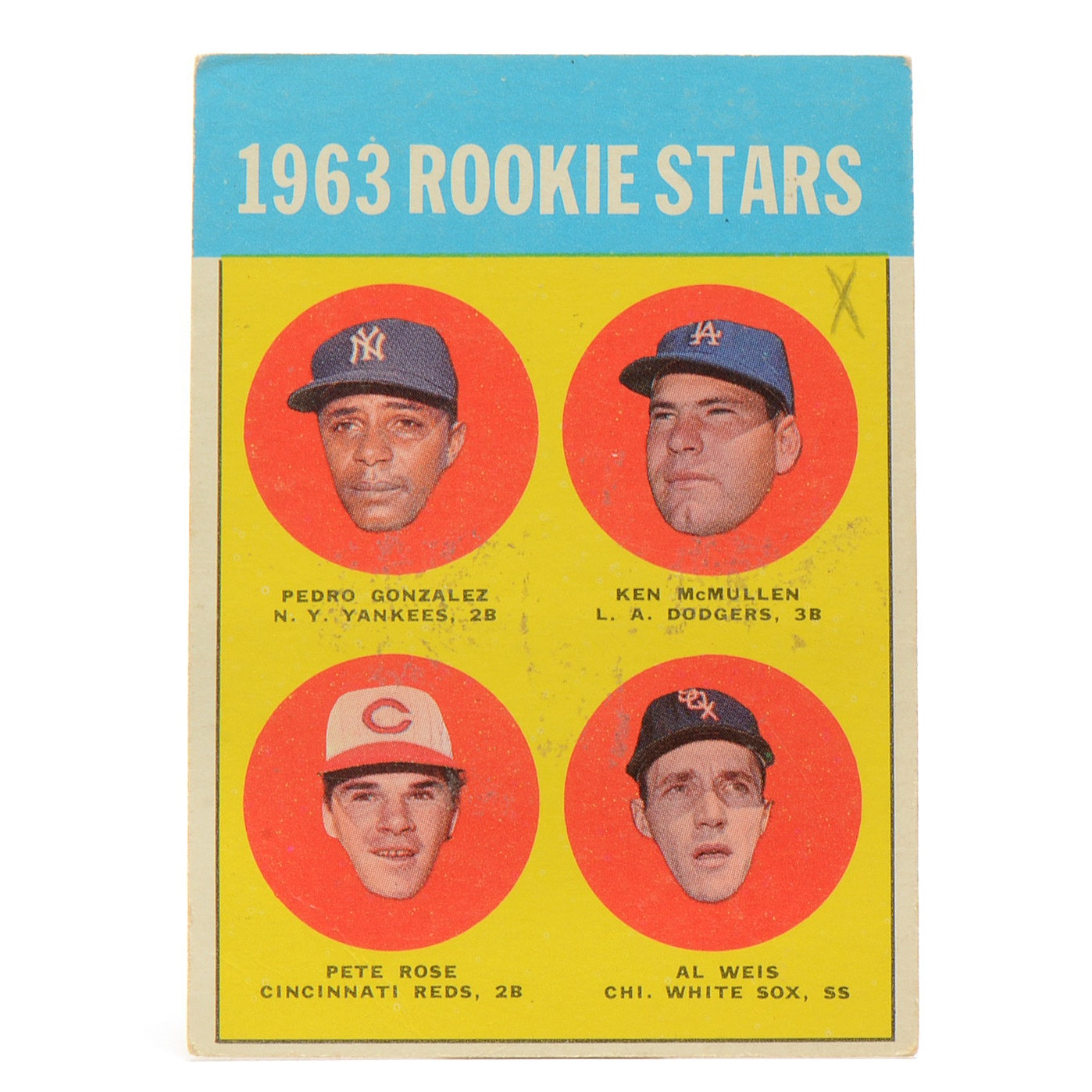 Original 1963 Pete Rose Topps Rookie Card
