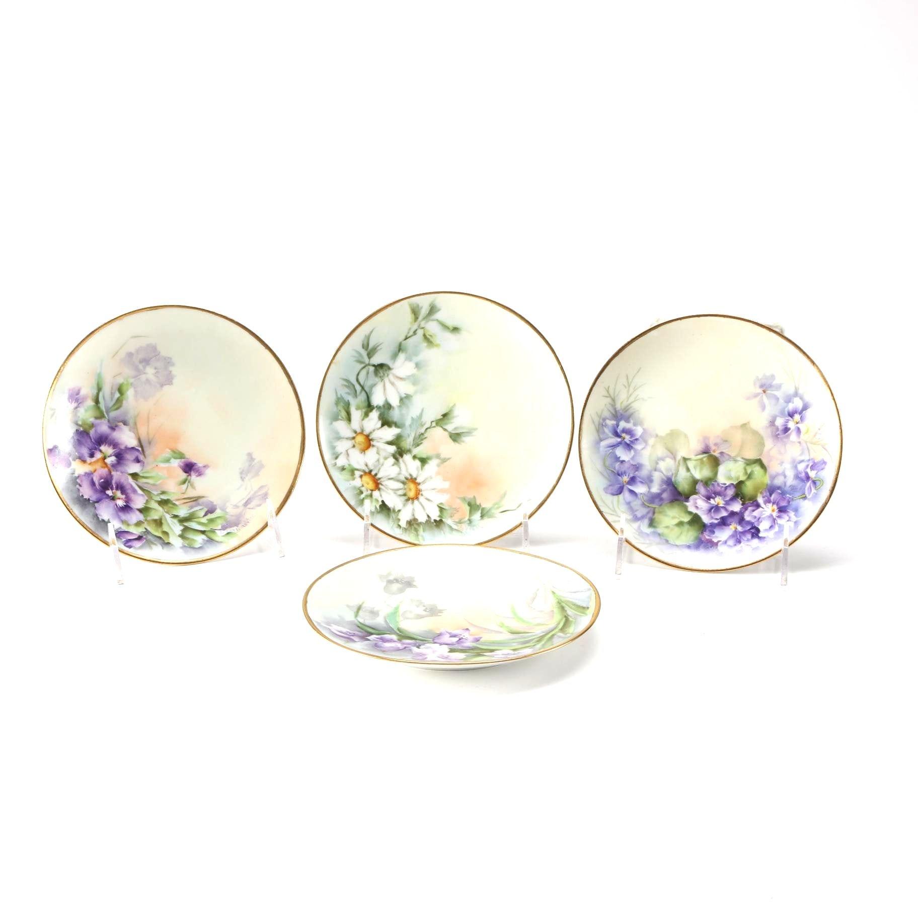 Four J&C Bavaria Decorative Plates