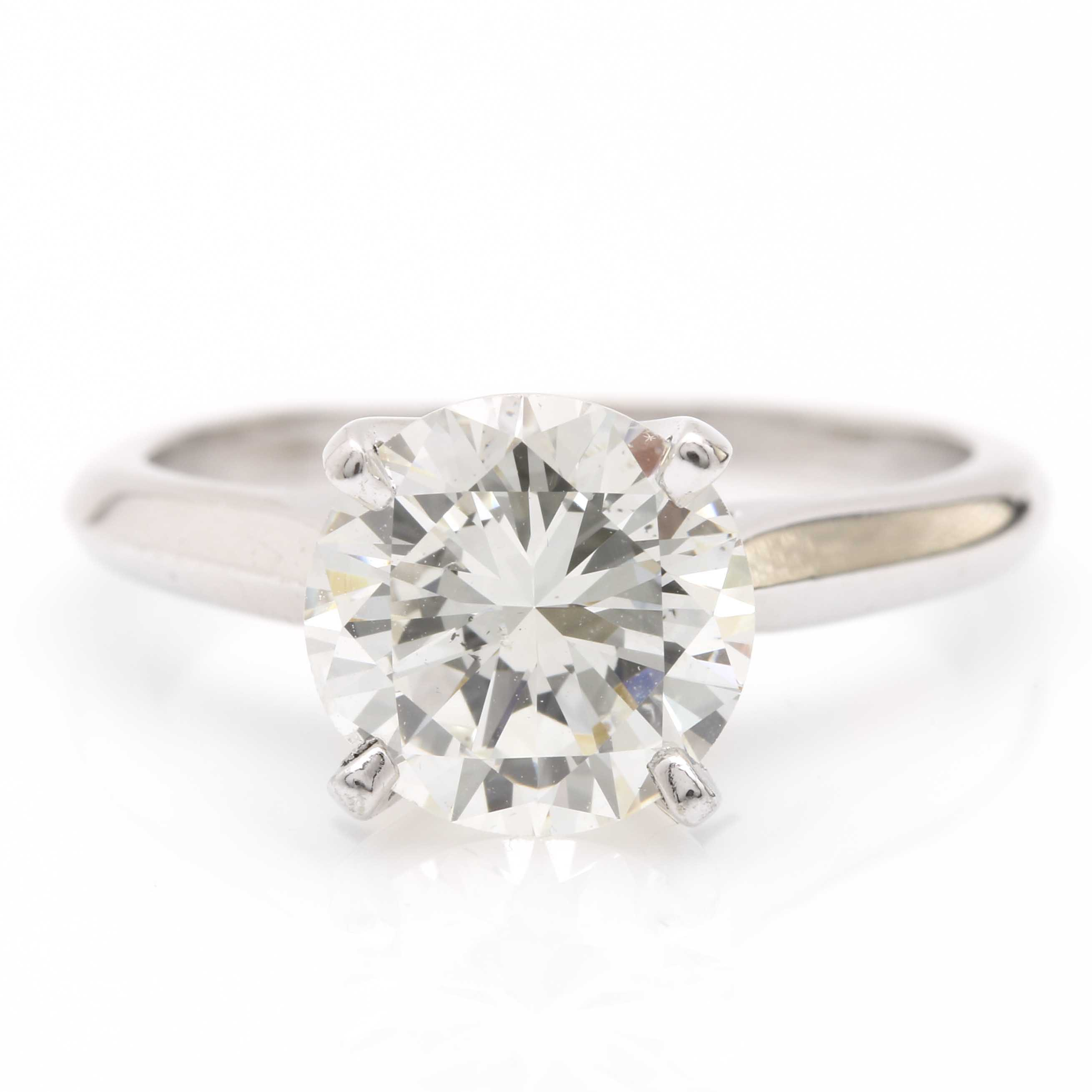 14K White Gold Solitaire 1.95 CTS Diamond Ring