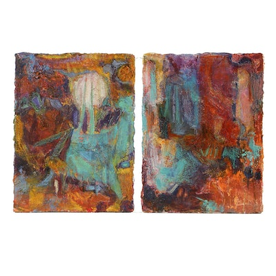 Denyse Wilhelm Mixed Media on Canvas Diptych