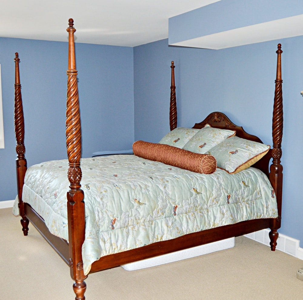 Ethen Allen Four Poster King Bed Frame