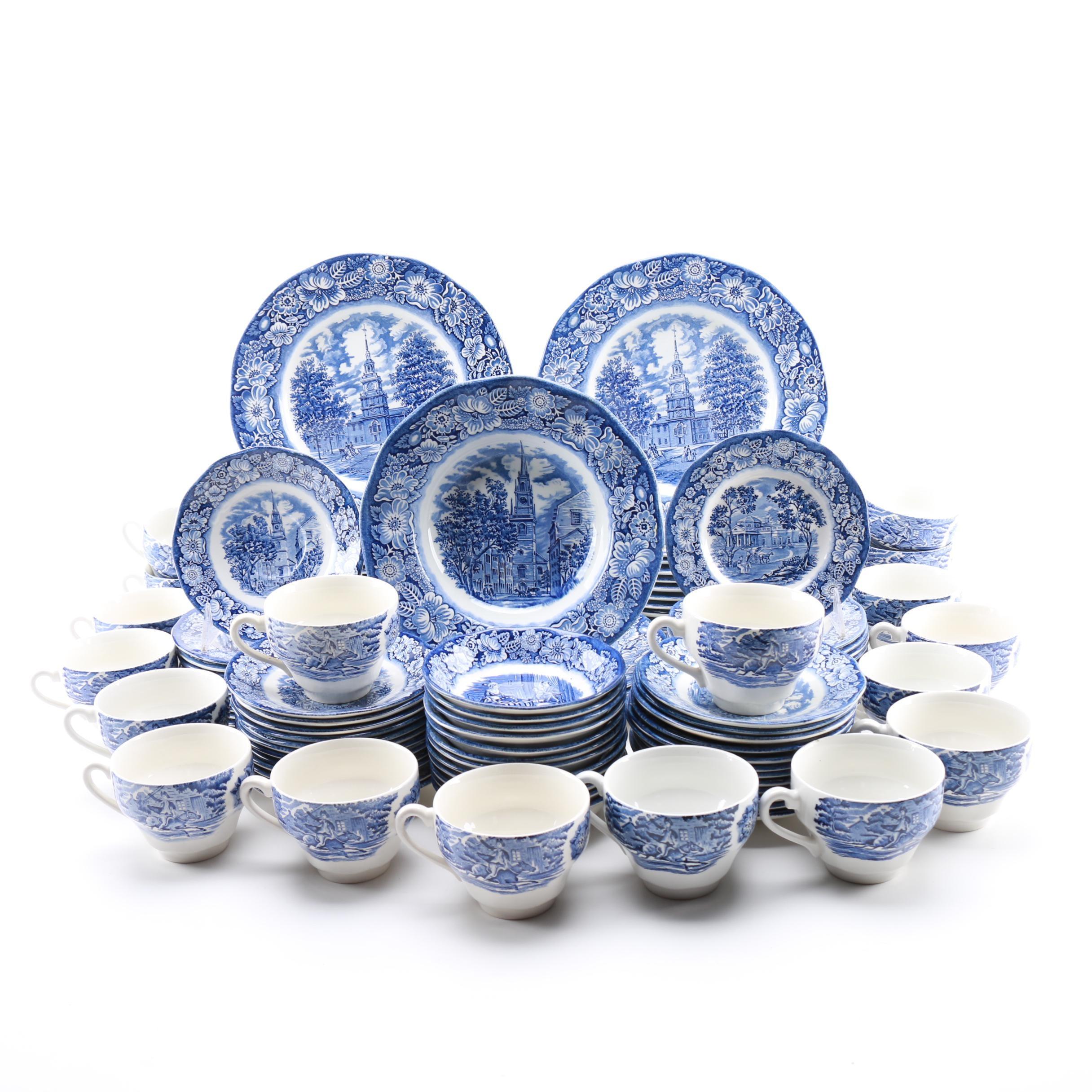 "Staffordshire ""Liberty Blue"" Ceramic Tableware"