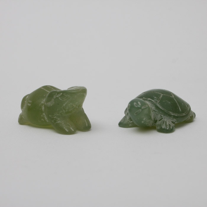 Jade Carved Turtle and Frog