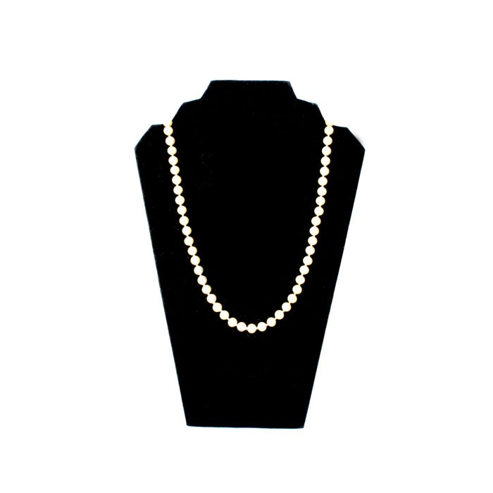 Faux Pearl Necklace With 14K White Gold Clasp