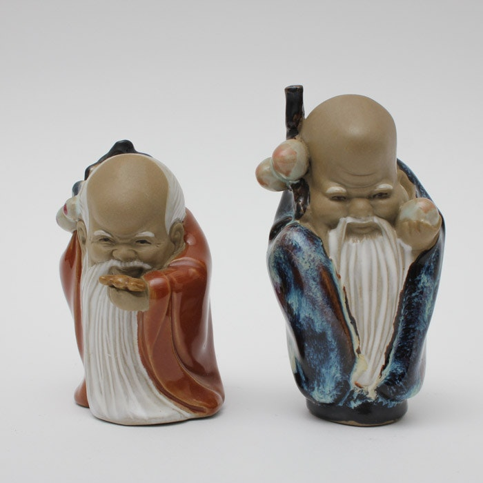 Two Chinese Shiwan Ware Figurines
