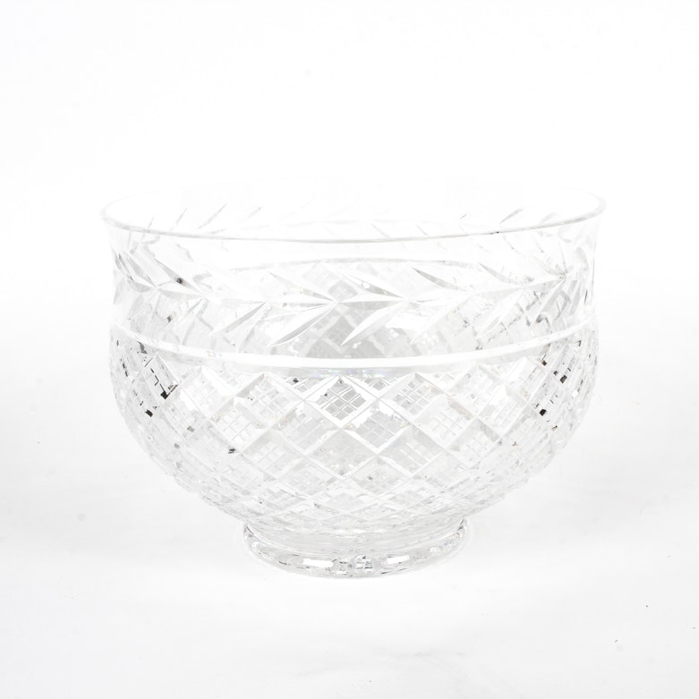 """Waterford """"Glandore"""" Crystal Punch Bowl"""