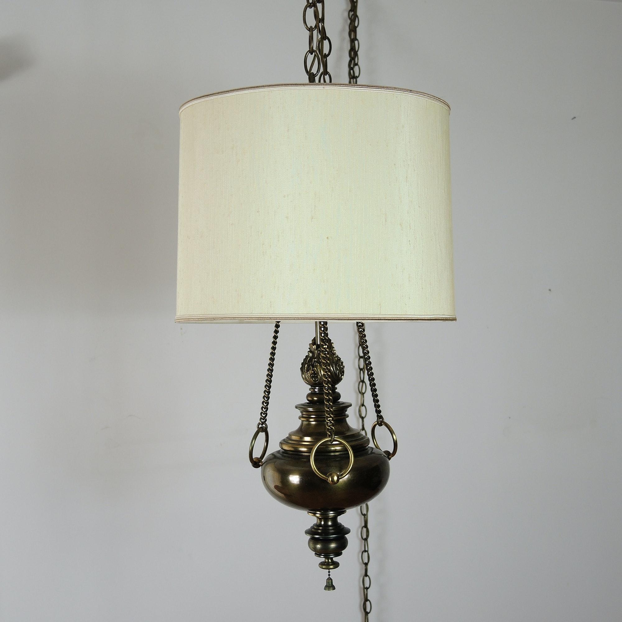 Vintage Hanging Pendant Swag Lamp