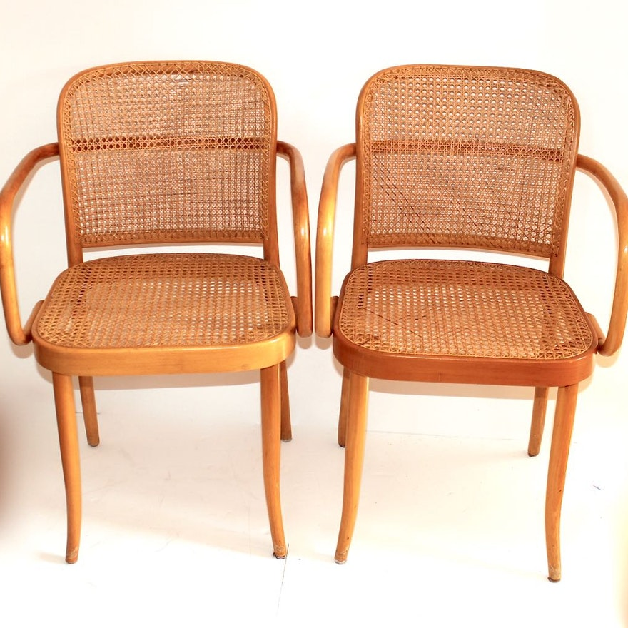 Completely new Two Thonet/Stendig Prauge Bentwood & Cane Chairs : EBTH OM85