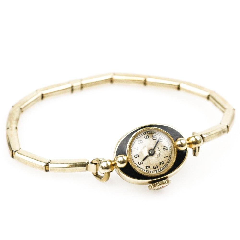 Vintage 14K Yellow Gold Lady Elgin Wristwatch
