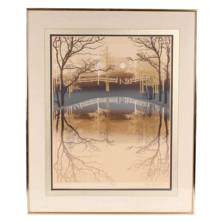 "Virgil Thrasher Limited Edition Serigraph ""Mirror Lake"""