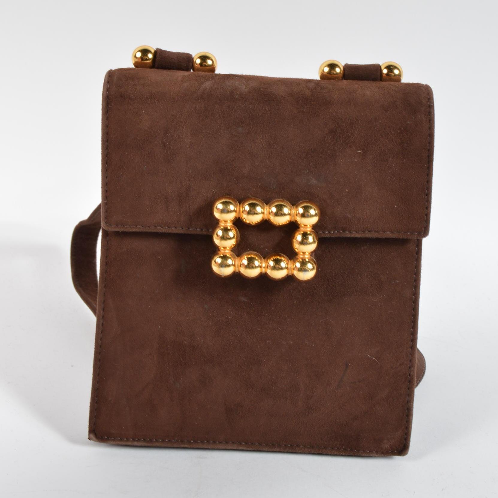 Vintage Paloma Picasso Brown Leather Handbag