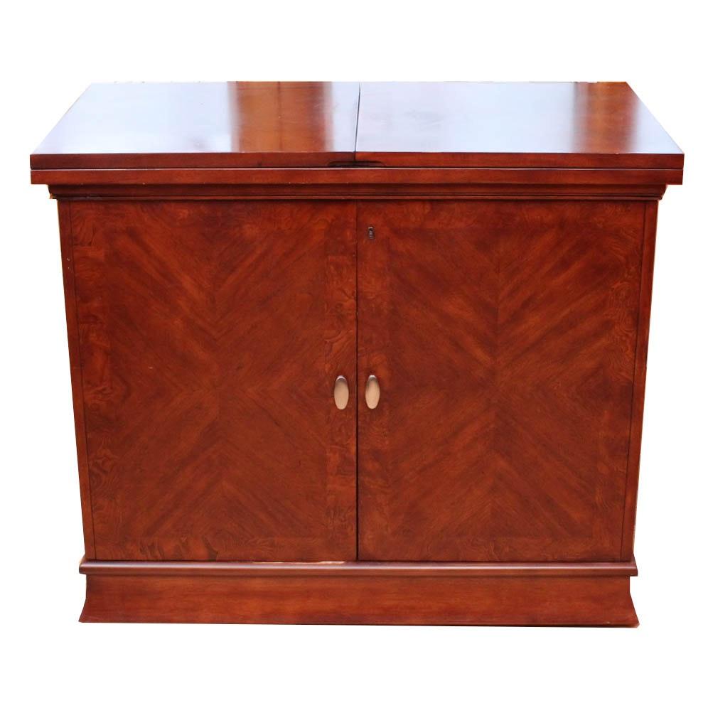 Contemporary Mahogany Veneer Bar Cabinet Buffet