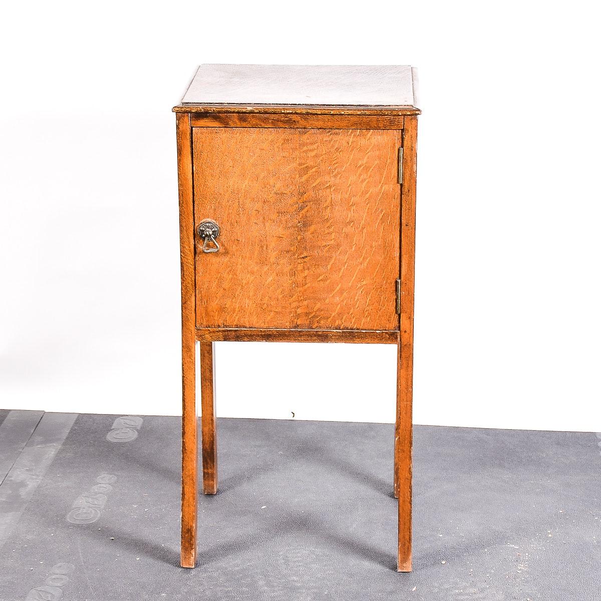 Antique Tiger Oak Side Table