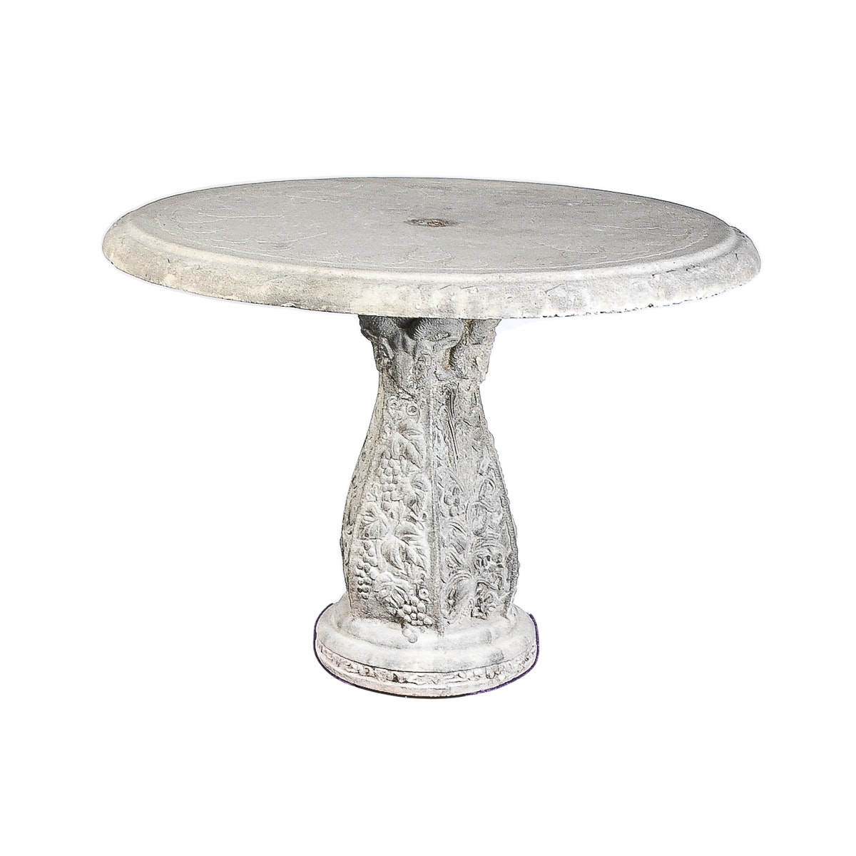 Cement Outdoor Pedestal Table
