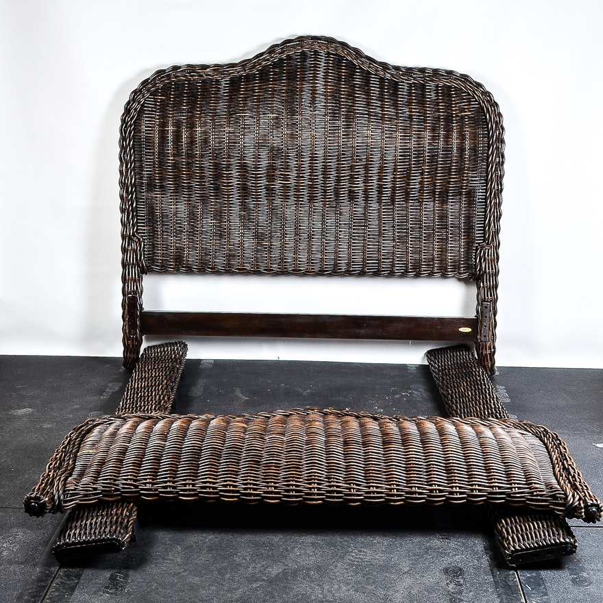 Queen Size Crate Barrel Rattan Bed Ebth