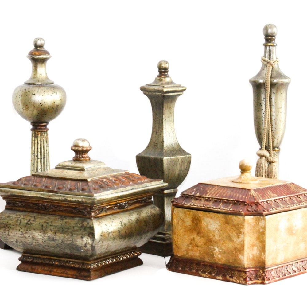 Assortment of Decorative Storage and More