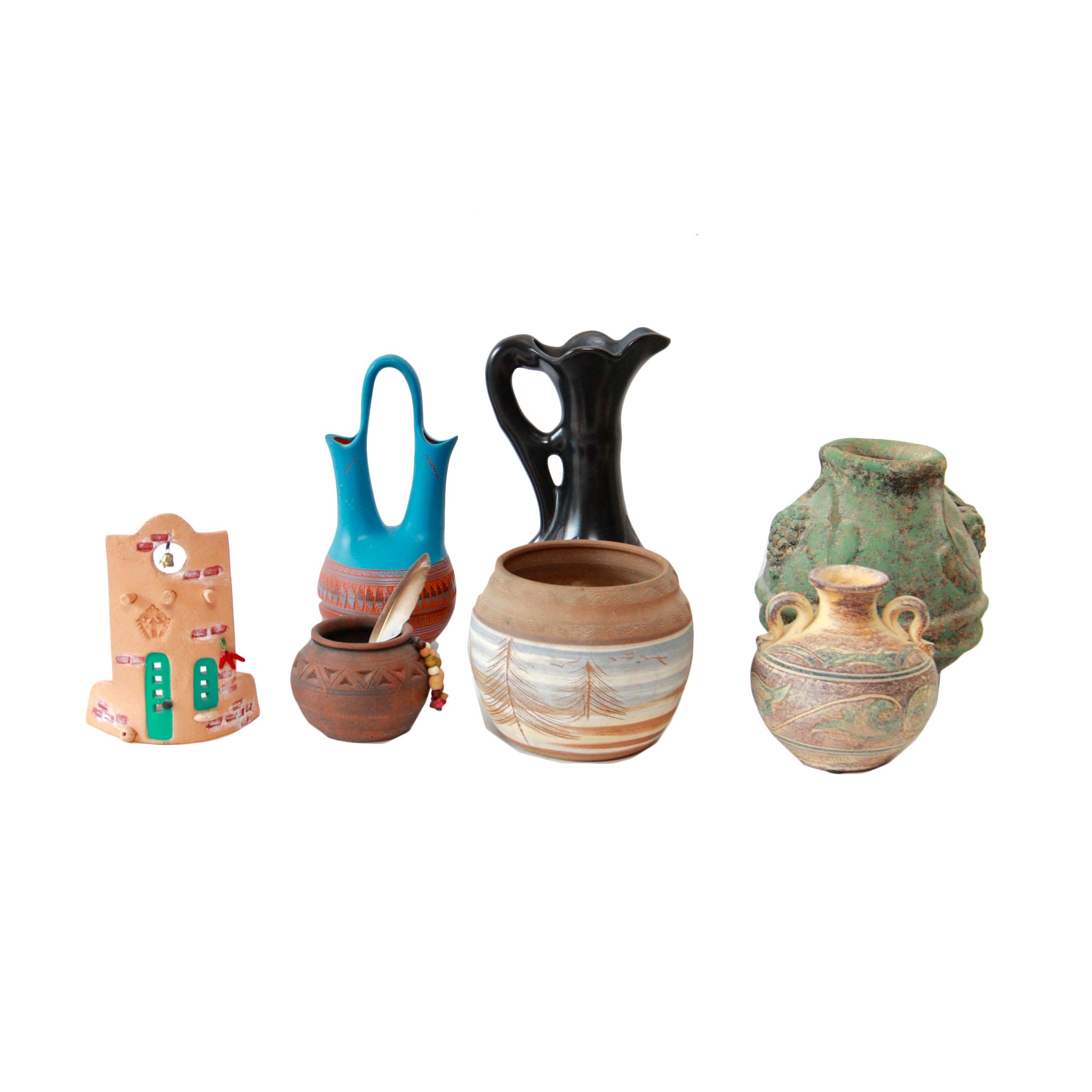 Southwest Style Pottery Including Navajo