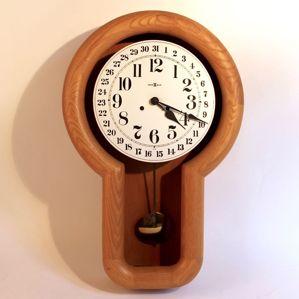 Danish Inspired Wood Pendulum Chime Wall Clock