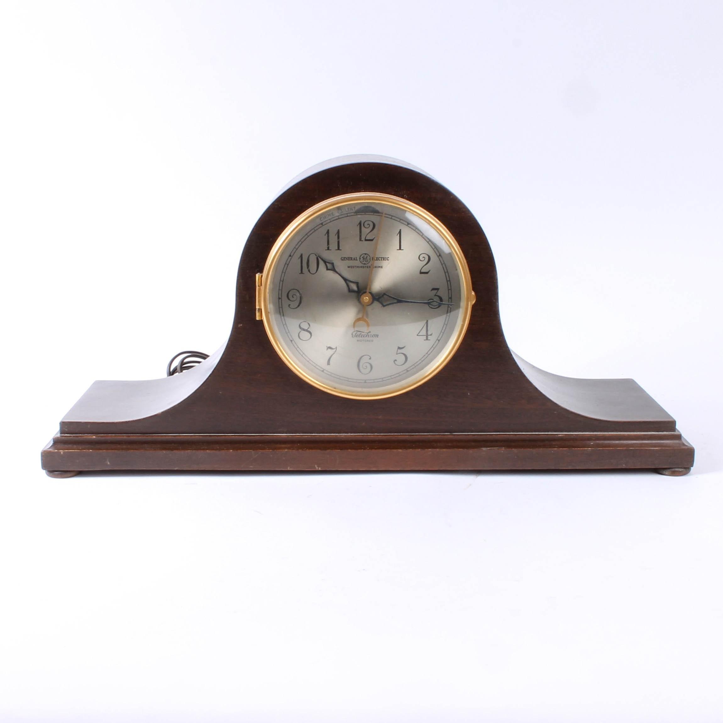 "Vintage General Electric ""Westminster Chime"" Mantel Clock"