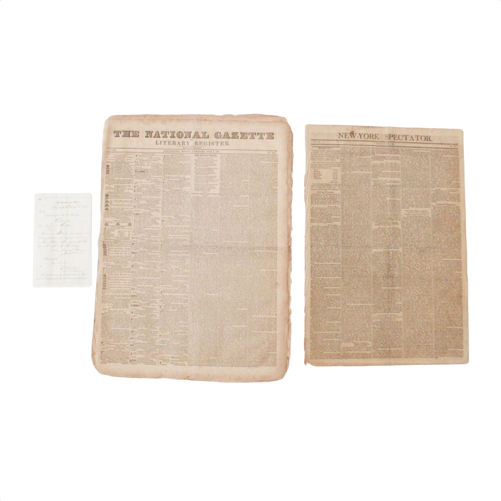 Antique 1800s Newspapers and Military Ephemera