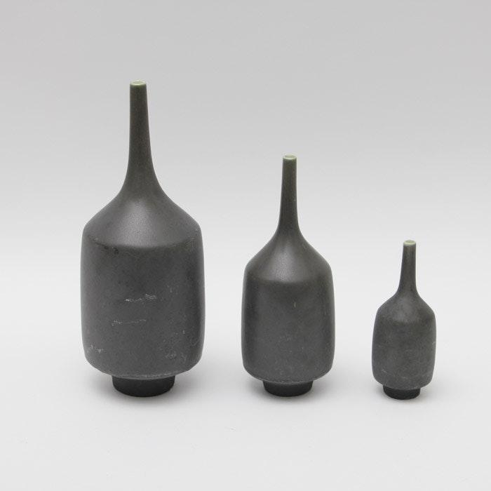 Group of Three Sara Paloma Stoneware Bud Vases