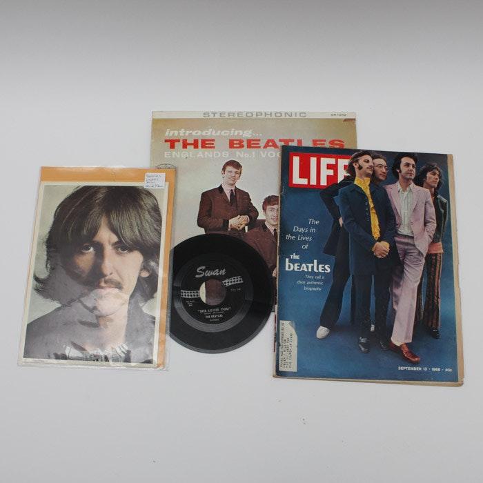 """1964 """"Introducing... the Beatles"""" Vinyl LP and Beatles Memorabilia"""