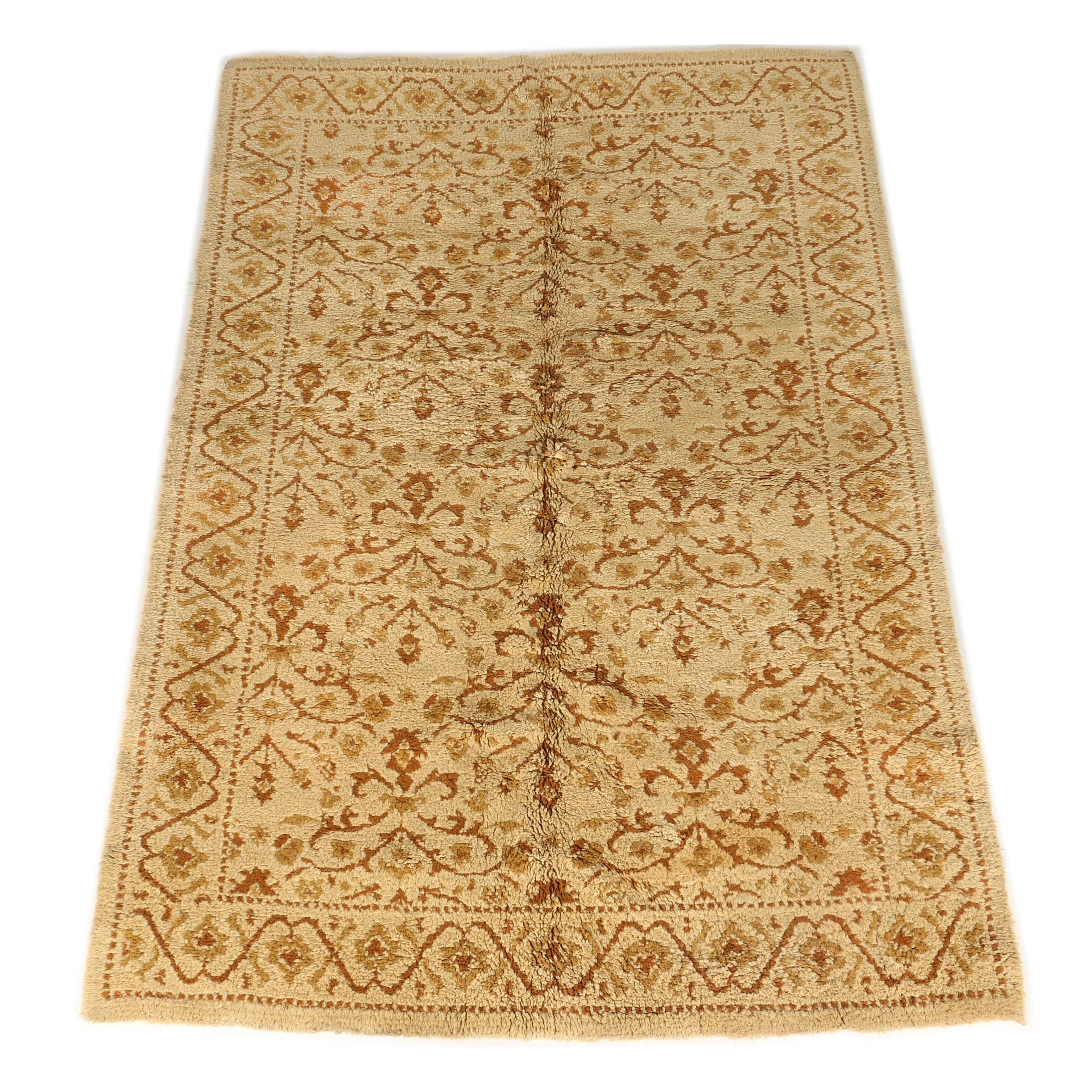 Vintage Hand-Knotted Moroccan Wool Rug
