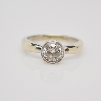 Raul Haas 14K White Gold Diamond Solitaire Ring
