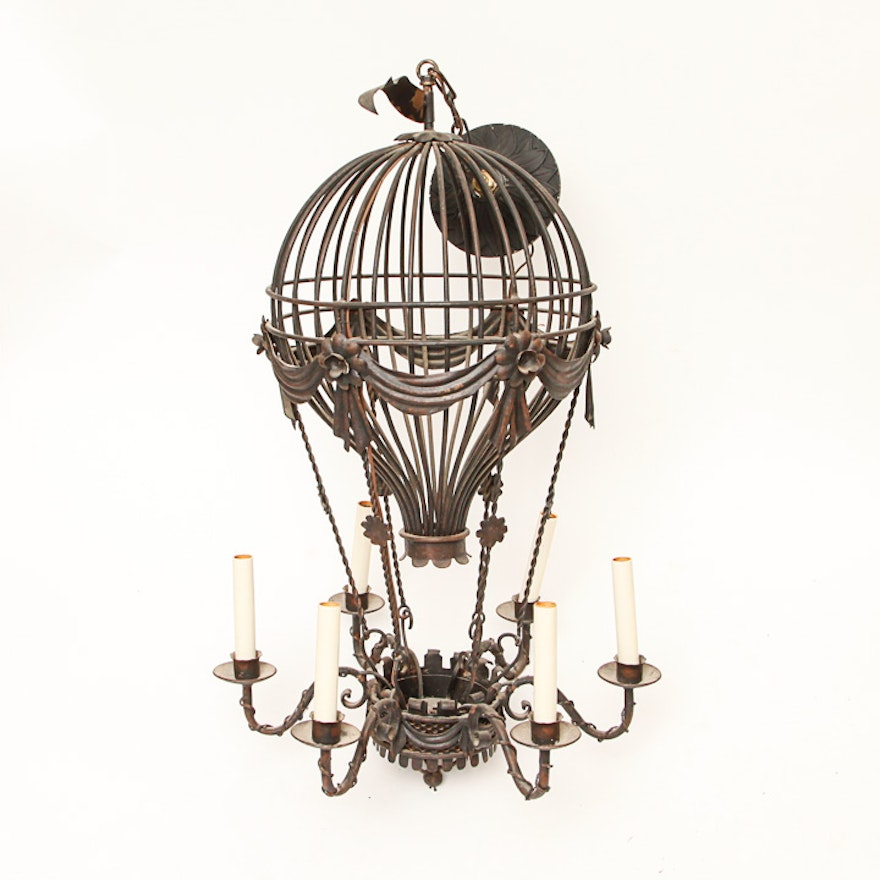 Victorian inspired hot air balloon chandelier ebth victorian inspired hot air balloon chandelier mozeypictures Images