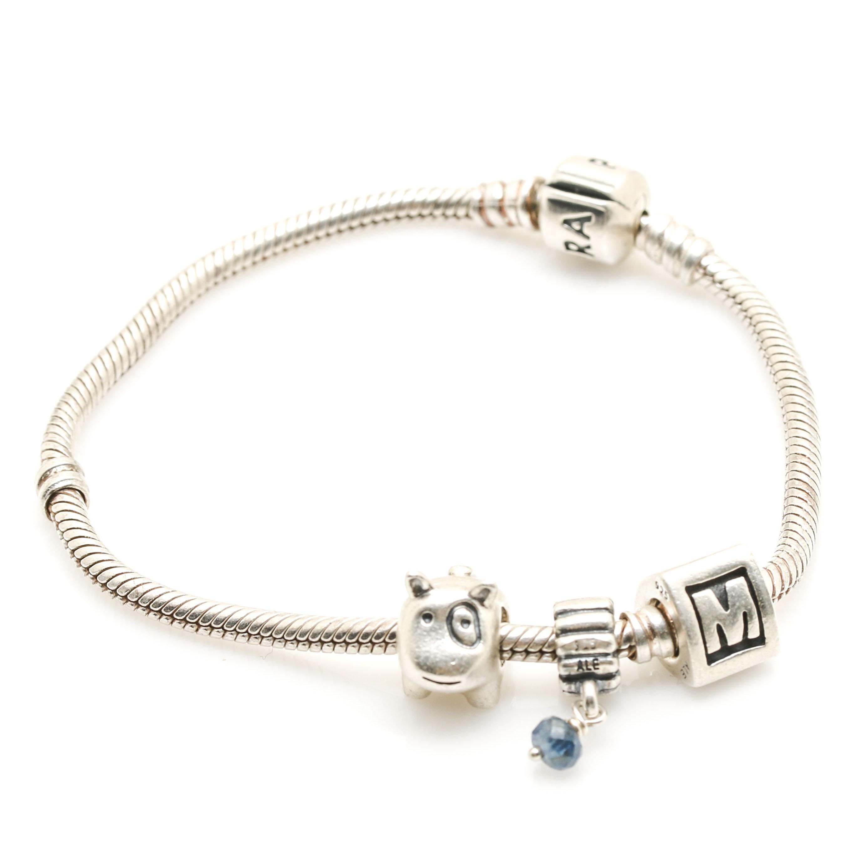 Pandora Sterling Silver Charm Bracelet