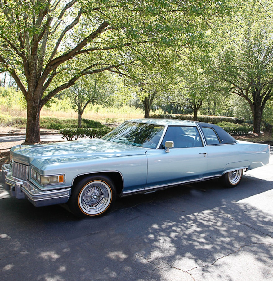 Blue 1975 Cadillac Coupe DeVille : EBTH