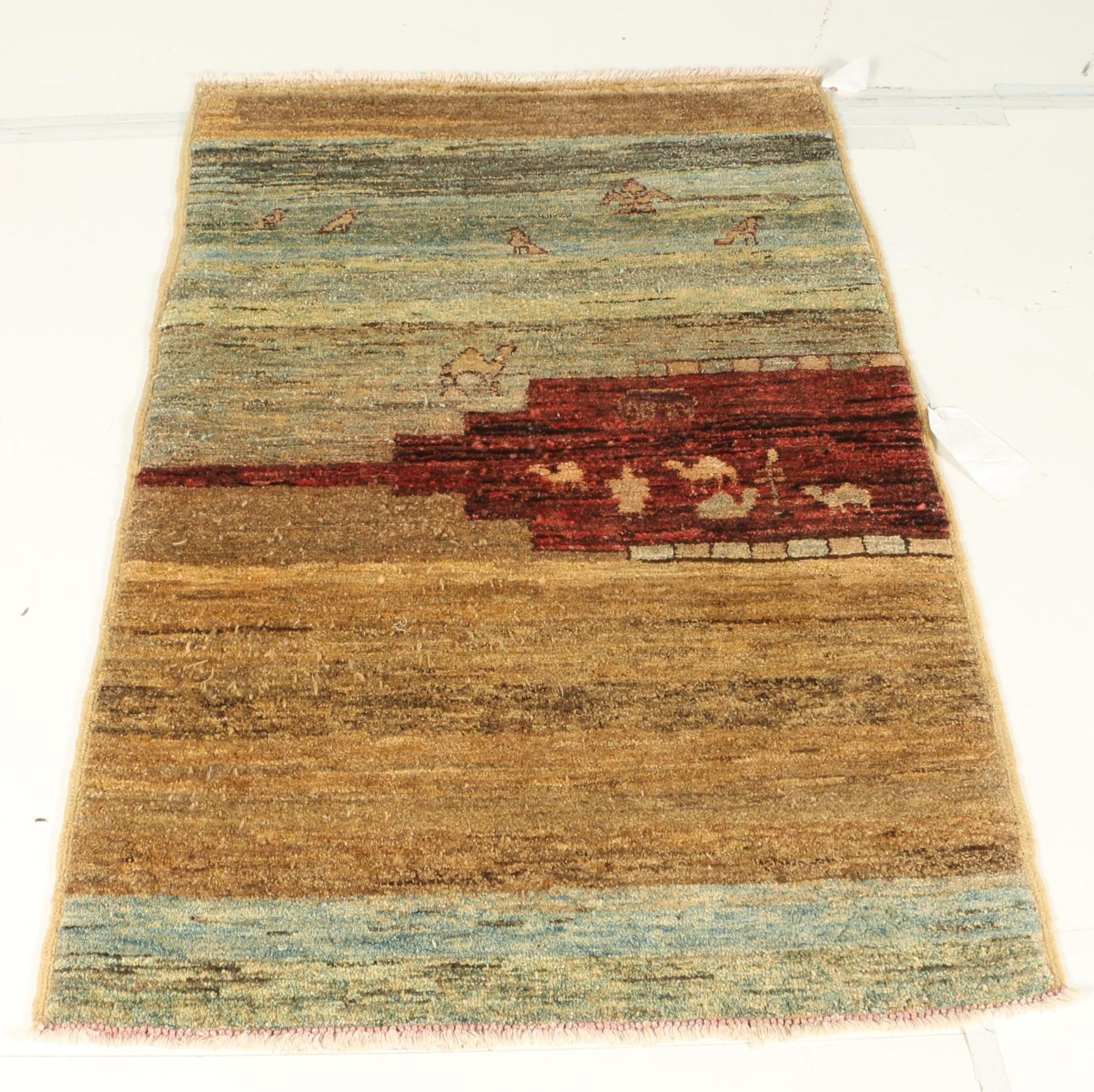 Hand-Knotted Persian Gabbeh Rug