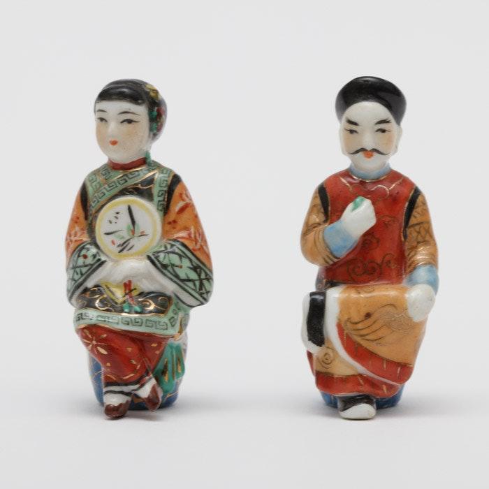 Pair of Ceramic Chinese Figurines
