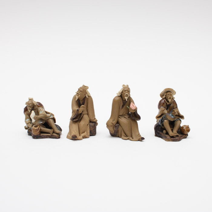 Four Chinese Shiwan Ware Figurines