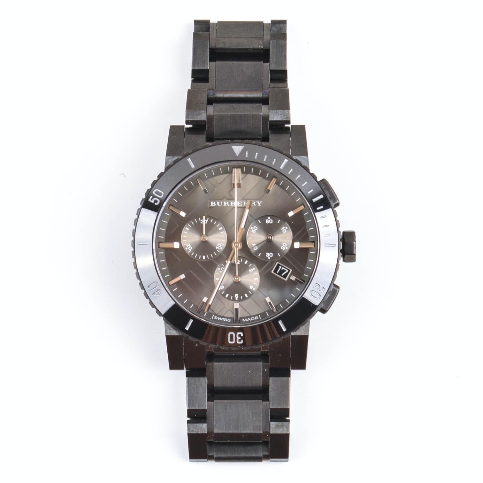 Burberry Stainless Steel Swiss Made Wristwatch