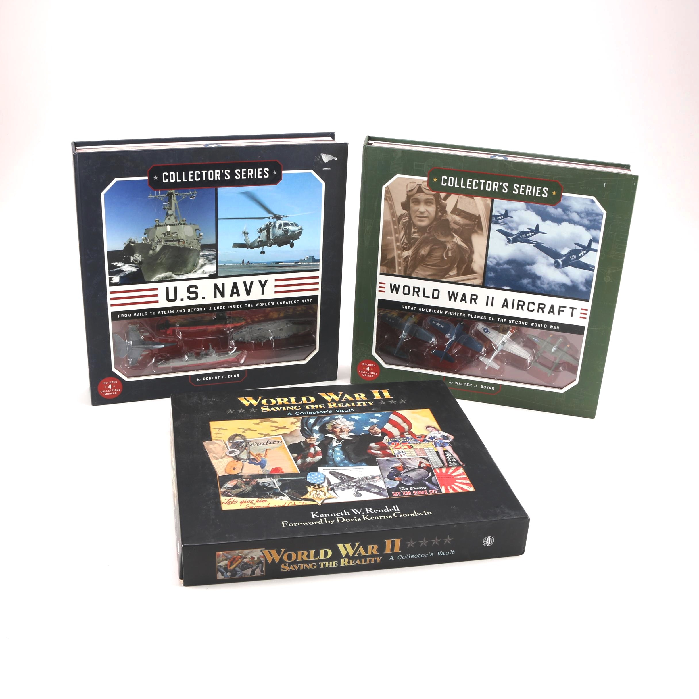 """World War II """"Saving The Reality"""" Set and Pair of WWII Navy and Air Force Books"""