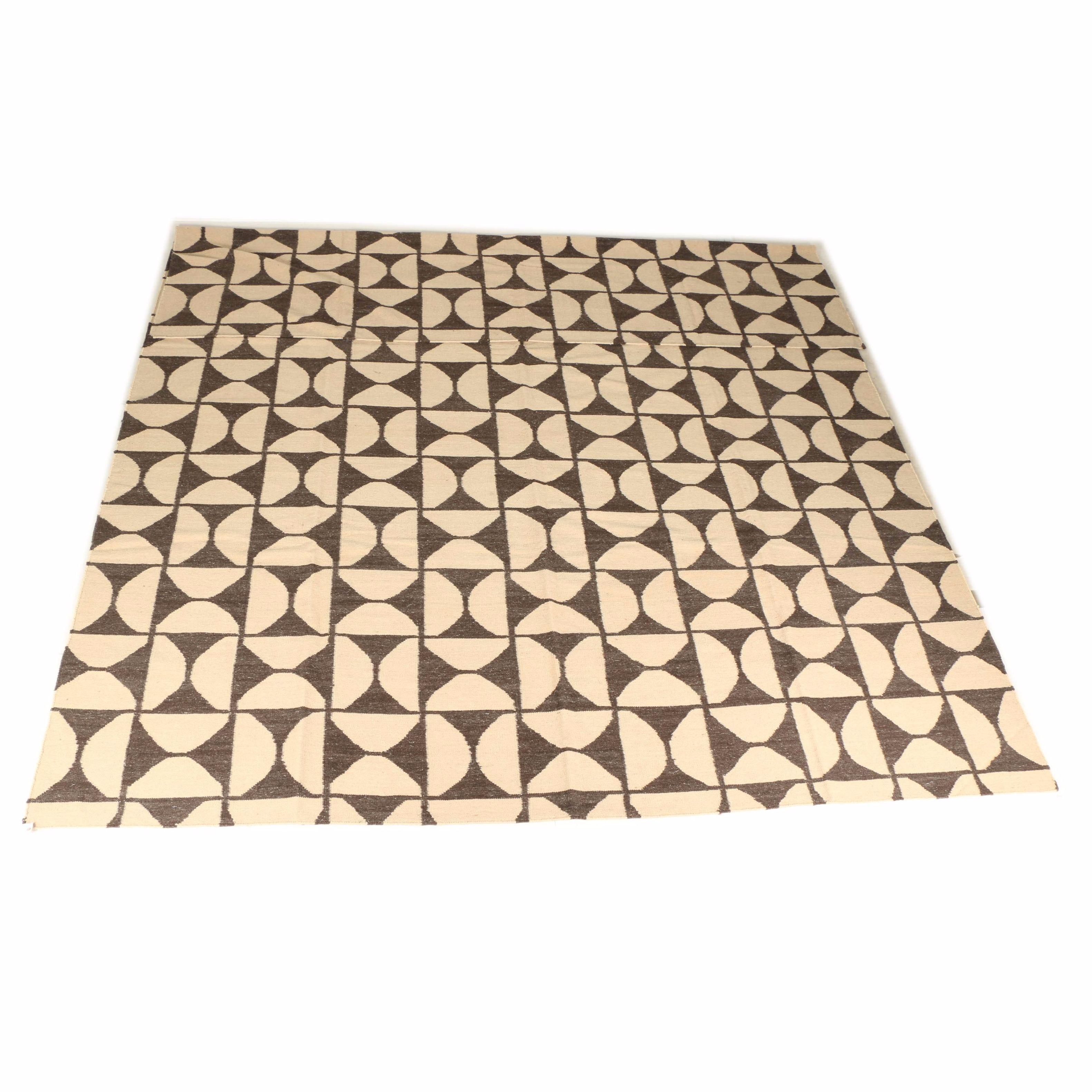 Handwoven Indian Wool Kilim Area Rug