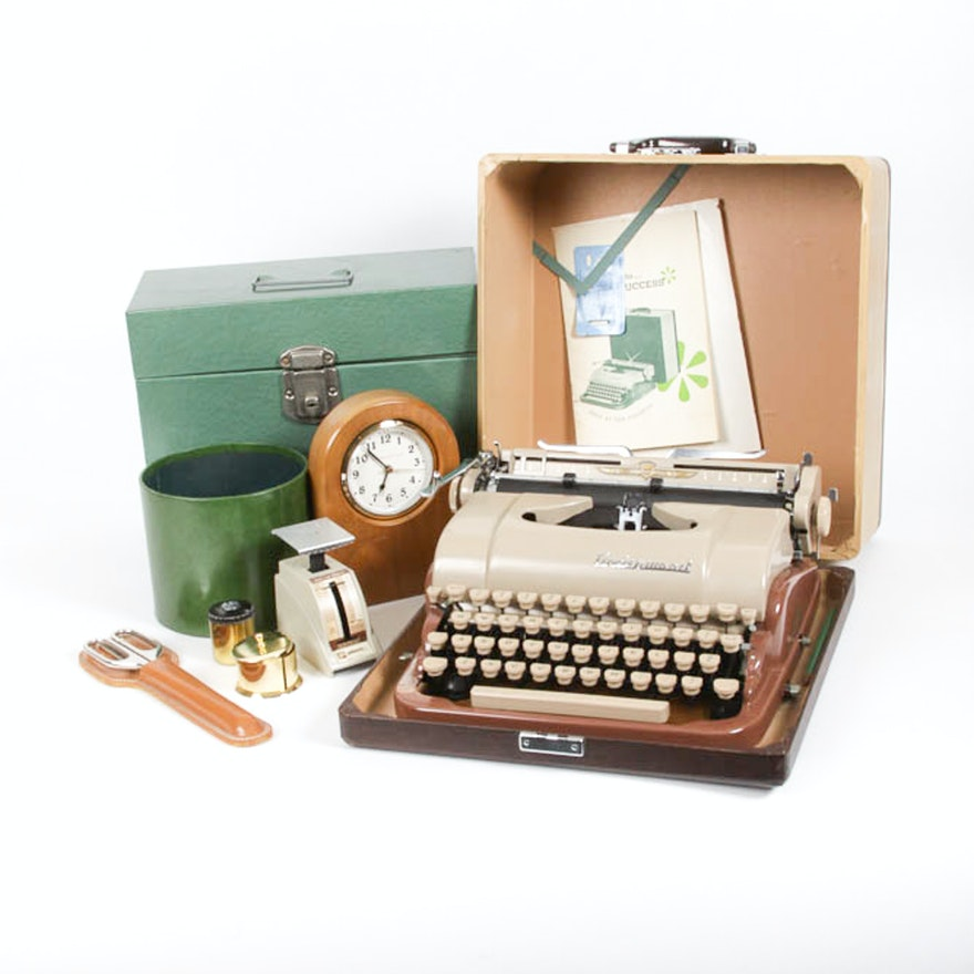 Variety Of Vintage Office Accessories And Equipment