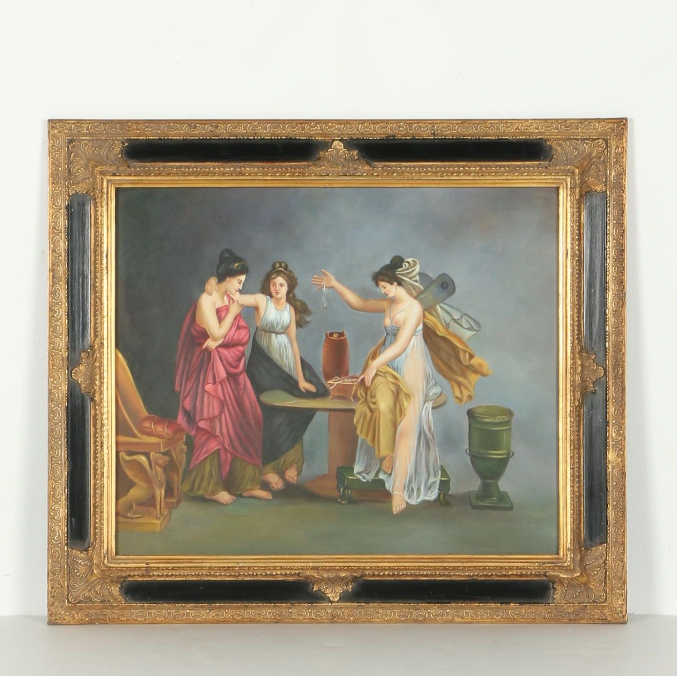 Neoclassical Style Oil Painting on Canvas