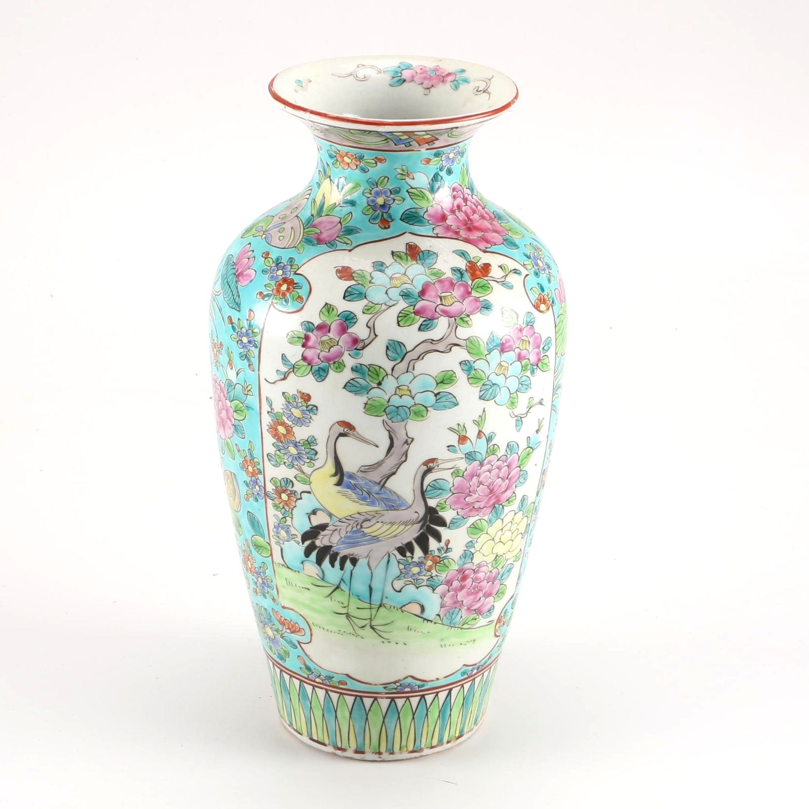 Chinese Porcelain Vase With Floral Designs