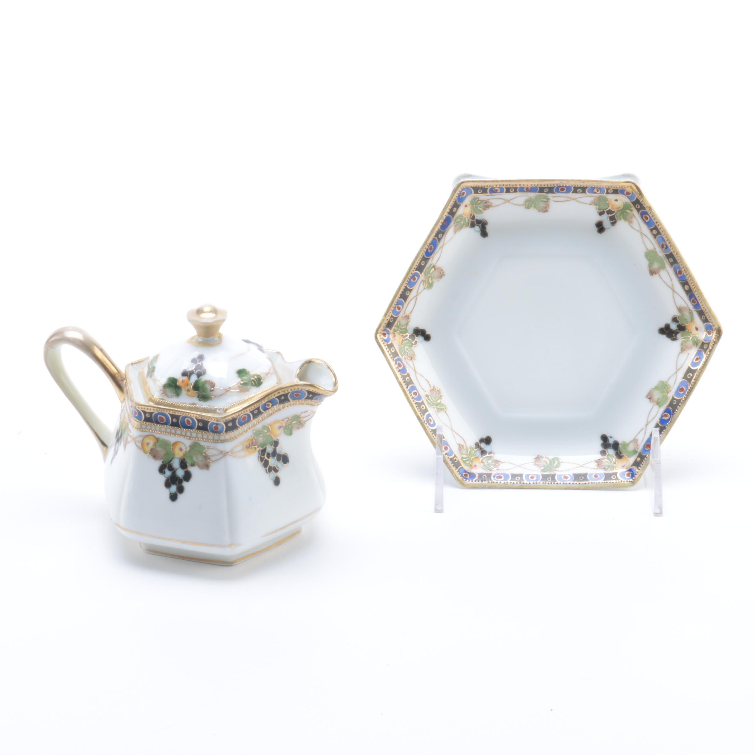 Nippon Teapot and Bread and Butter Plate