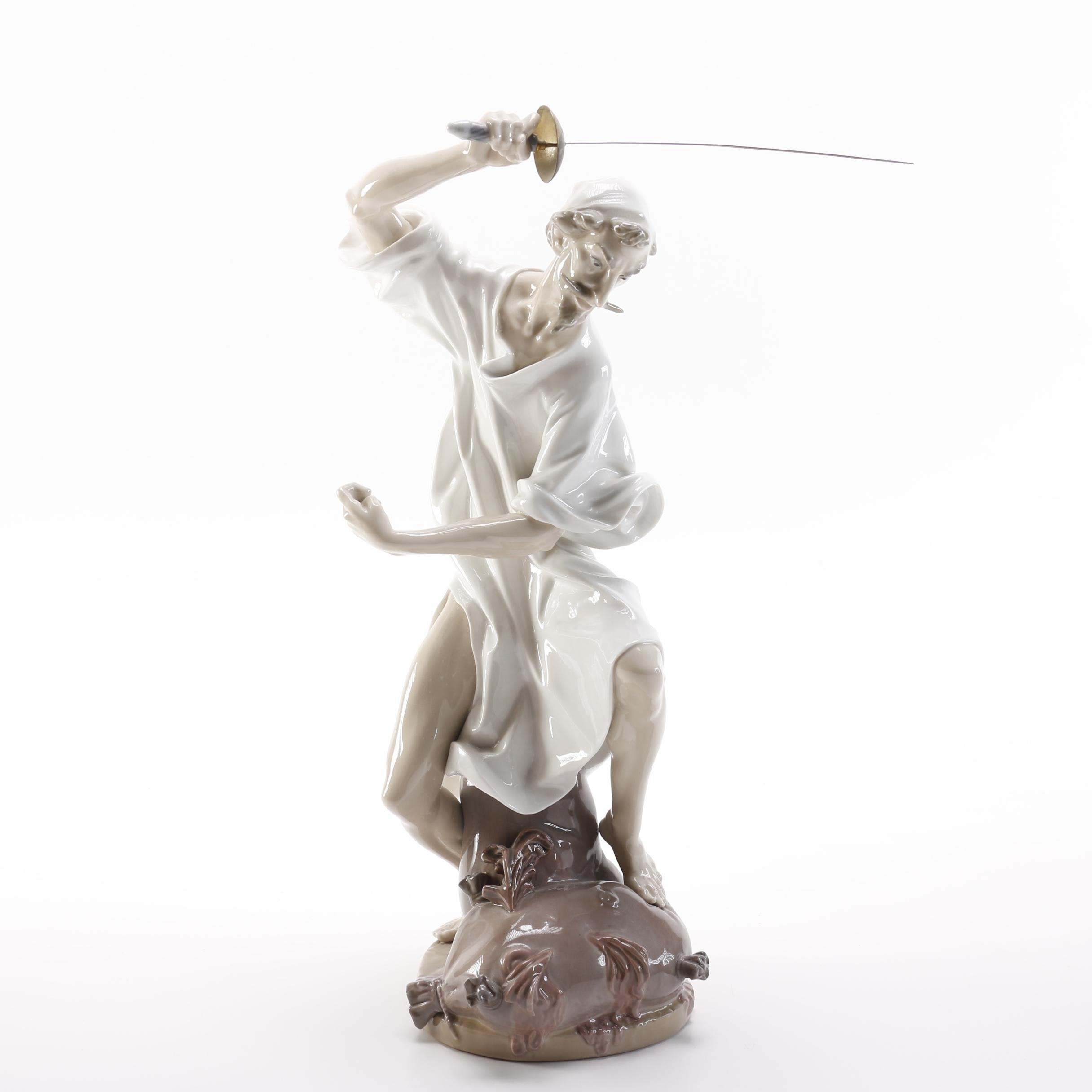 "Lladró ""Wrath of Don Quixote"" Porcelain Figurine"