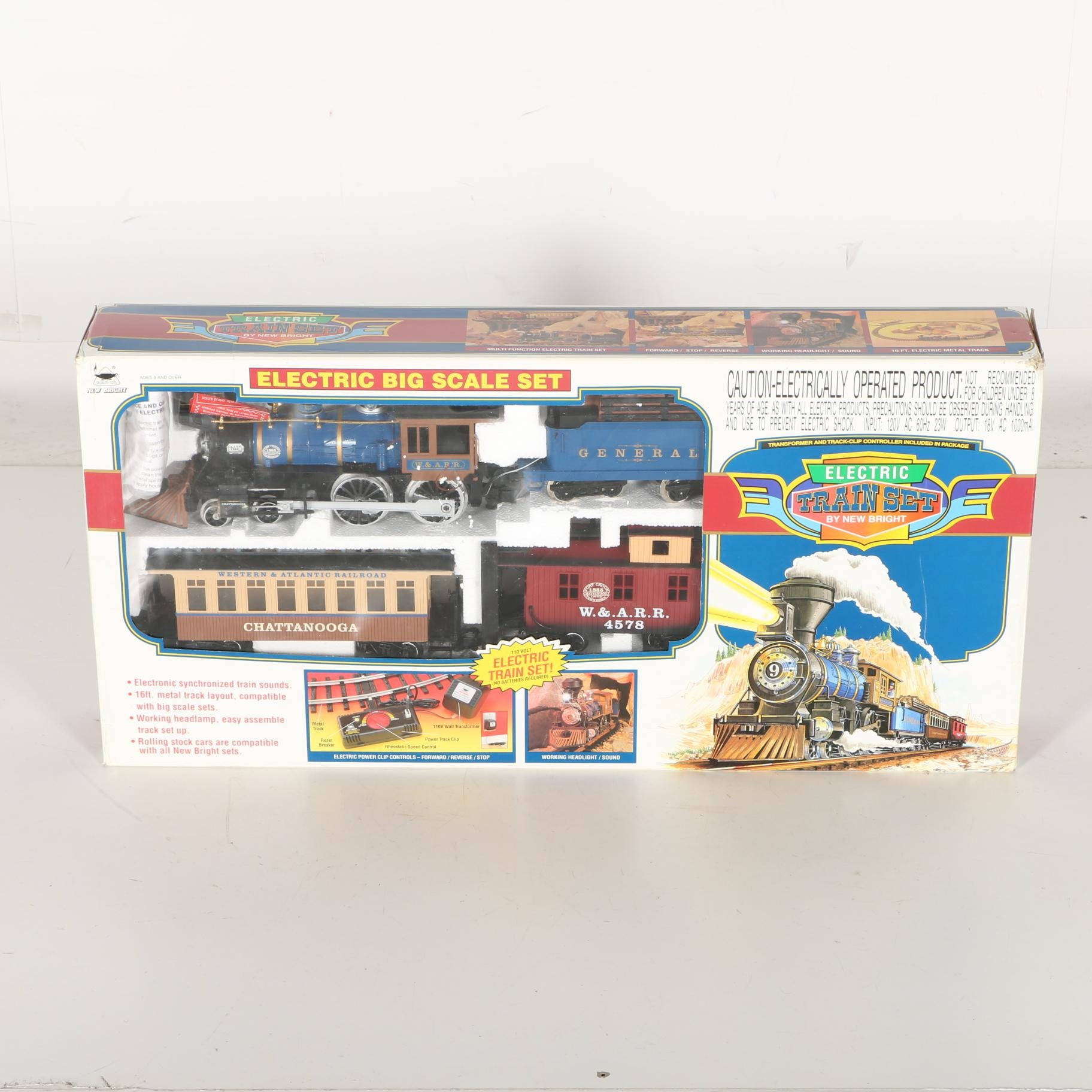 Electric Big Scale Toy Train Set by New Bright