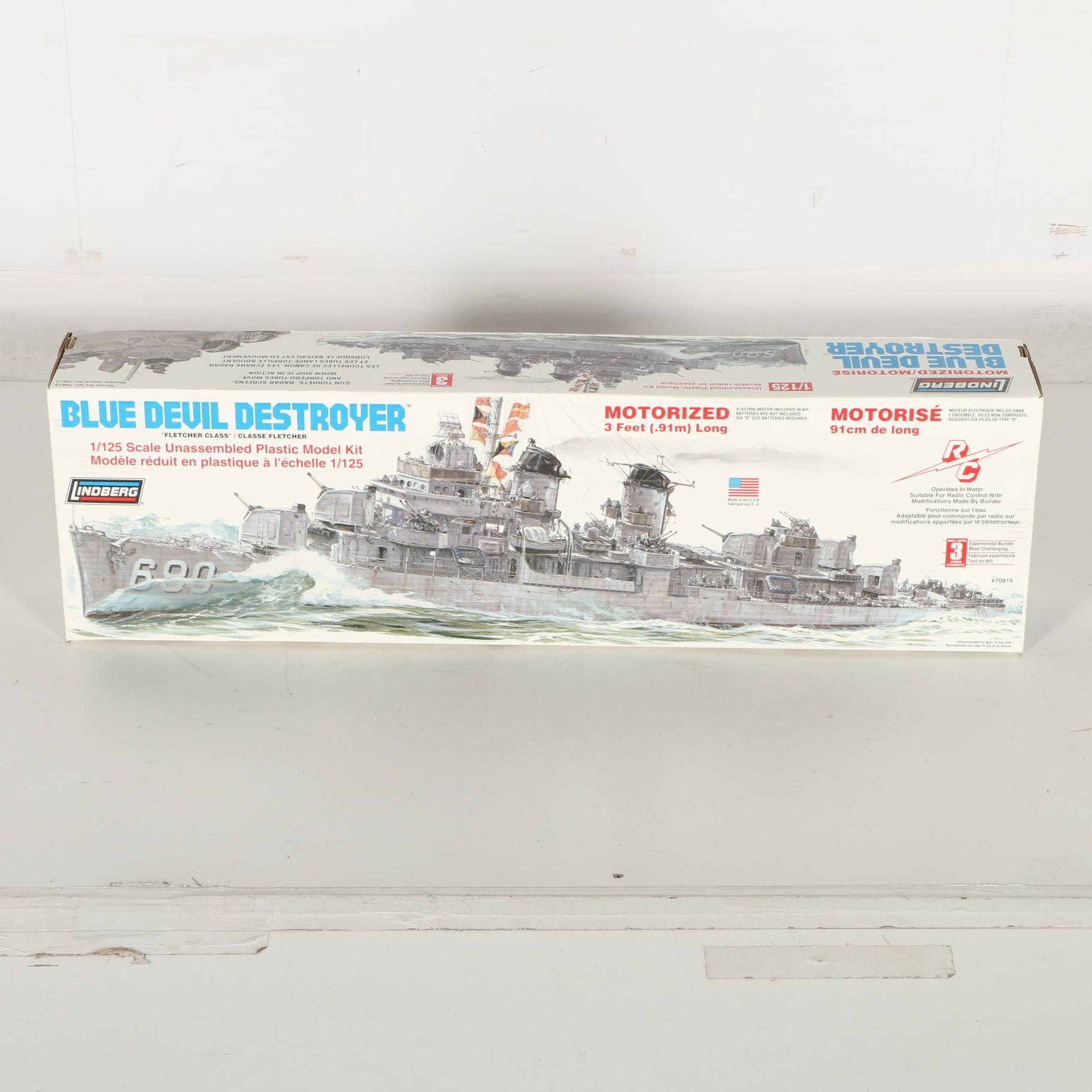 Lindgerg Blue Devil Destroyer 1:125 Scale Model Kit