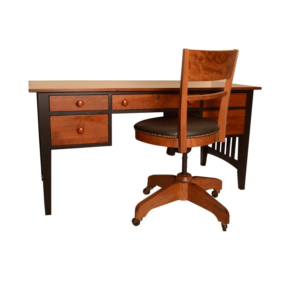 Ethan Allen Shaker Style Desk With Chair