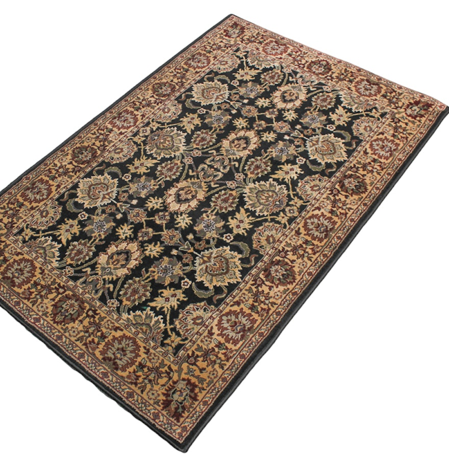 oriental weavers regal traditions black and tan area rug. Black Bedroom Furniture Sets. Home Design Ideas