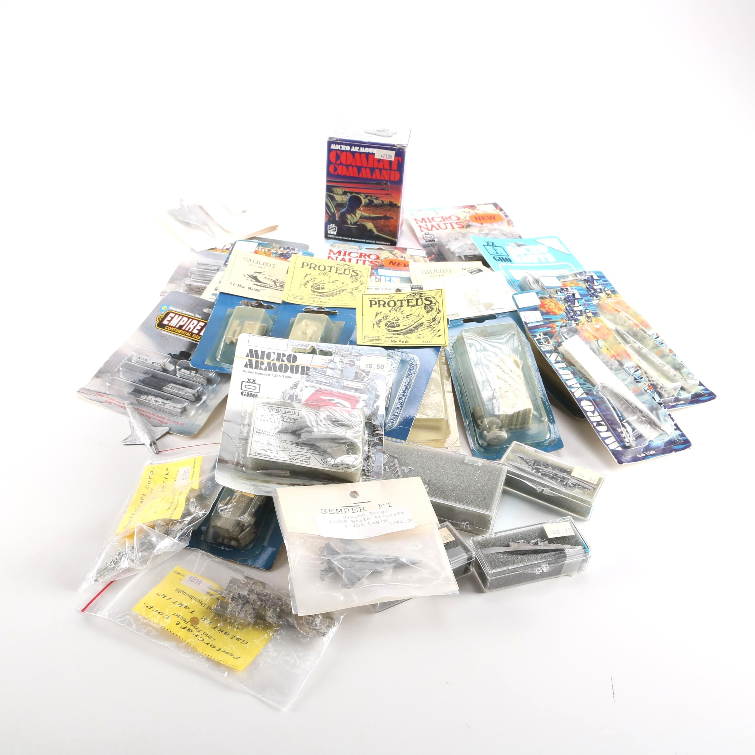 Collection of Pewter and Plastic Gaming Miniatures