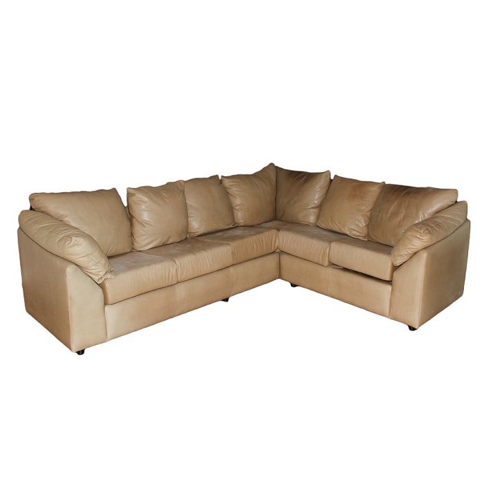 Contemporary Style Leather Sectional Sofa