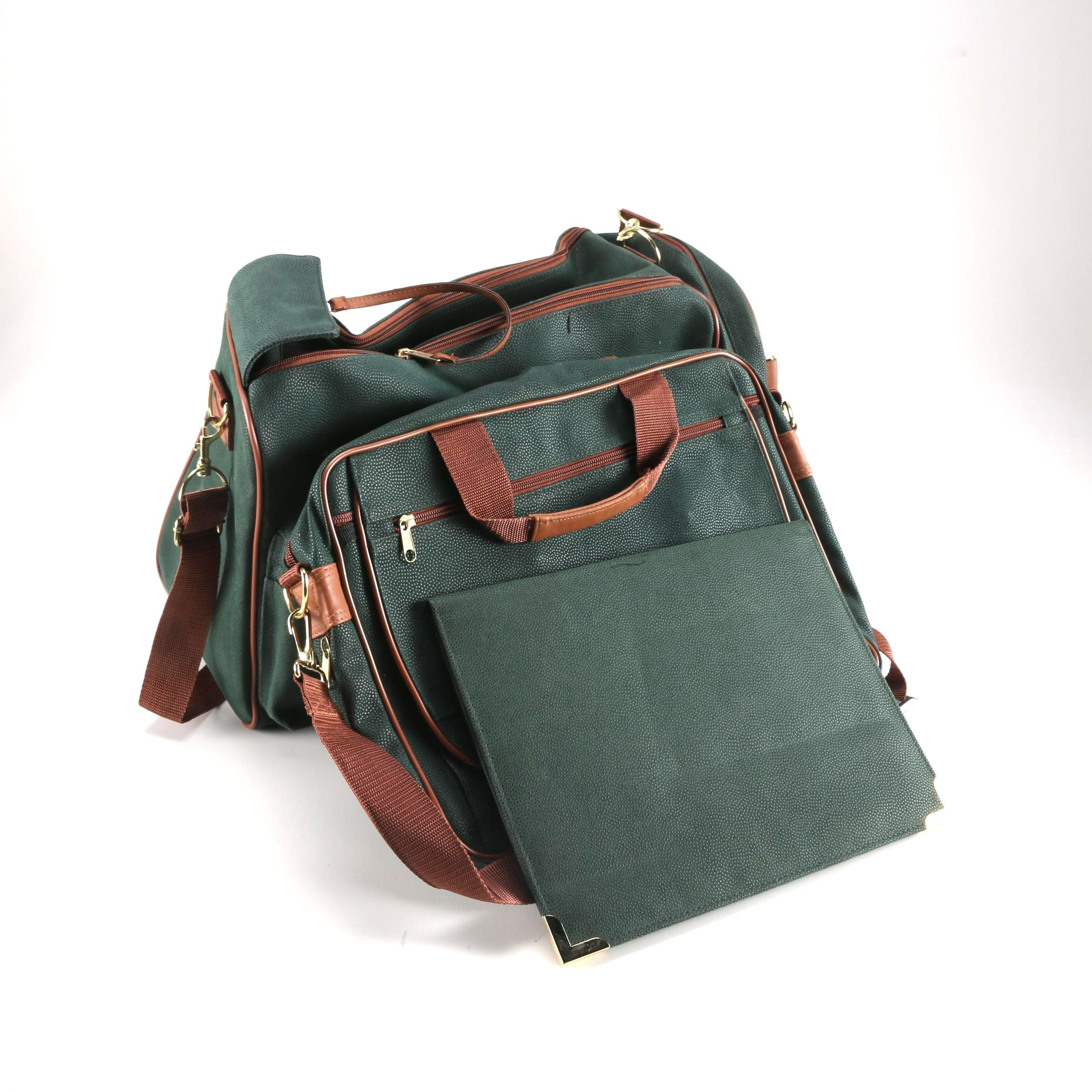 Green and Brown Leather Accessories